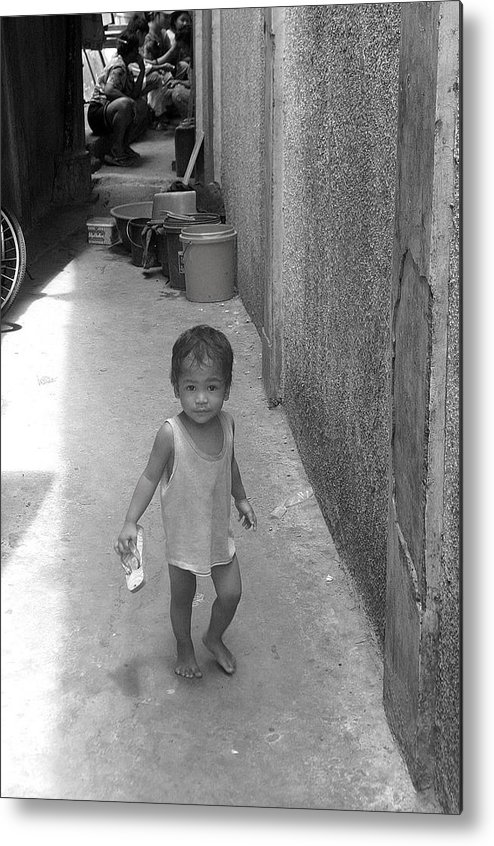 Photographer Metal Print featuring the photograph Back Street Life 2 by Jez C Self