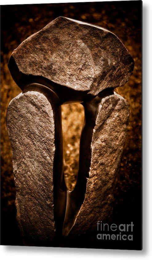 Art Metal Print featuring the photograph Balancing Rocks by Venetta Archer