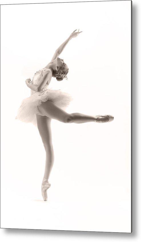 Ballerina Metal Print featuring the photograph Ballerina by Steve Williams