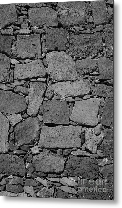 Wall Metal Print featuring the photograph Basalt Wall by Gaspar Avila