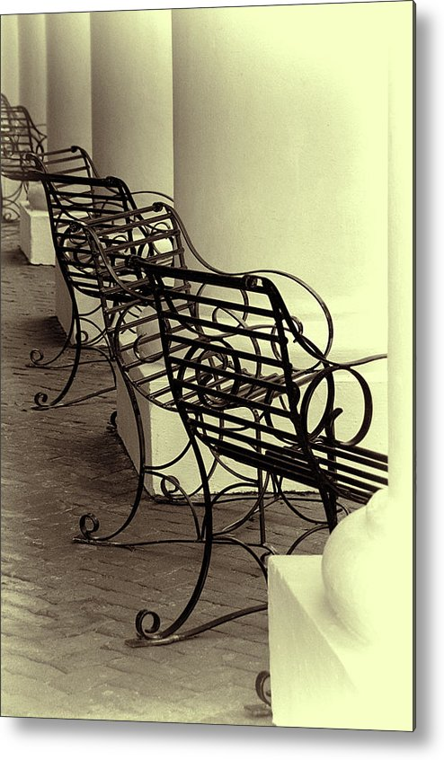 Chairs Metal Print featuring the photograph Be Seated by Mitch Spence