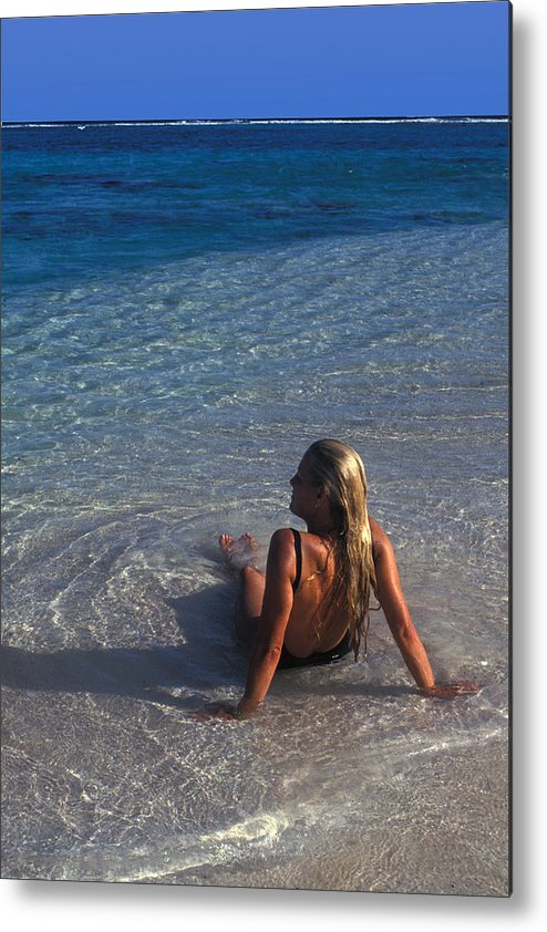 Beautiful Metal Print featuring the photograph Beach At Little Cayman by Carl Purcell