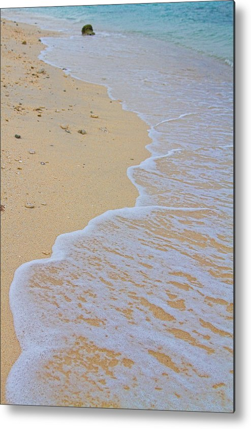 stock Images Metal Print featuring the photograph Beach Water Curves by James BO Insogna