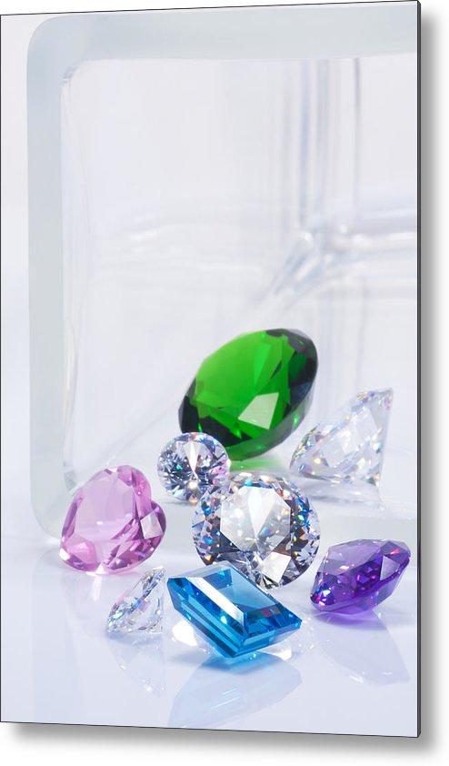 Allure Metal Print featuring the jewelry Beautiful Jewel by Atiketta Sangasaeng