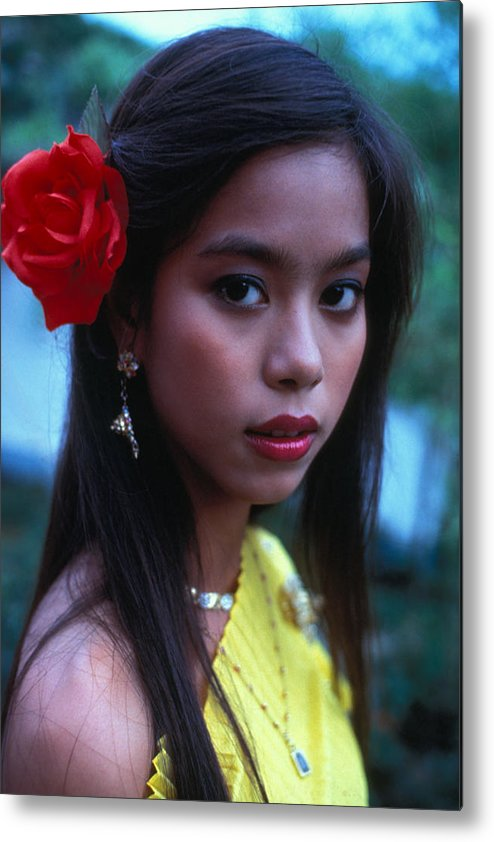Girl Metal Print featuring the photograph Beautiful Thai Girl by Carl Purcell