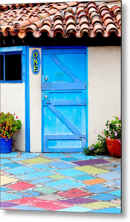 San Diego Metal Print featuring the photograph Behind Door Number One by Art Block Collections