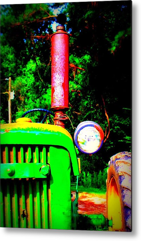 Old Metal Print featuring the photograph Big Green Tractor 2 by Jill Tennison
