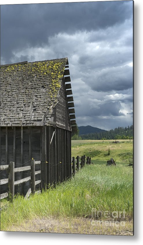 Big Sky Metal Print featuring the photograph Big Sky Cabin by Sandra Bronstein