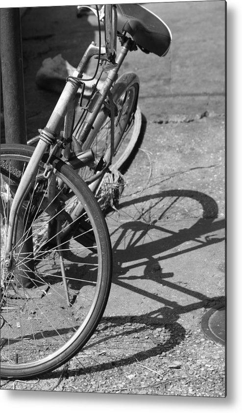 Bike Metal Print featuring the photograph Bike Shadow by Lauri Novak