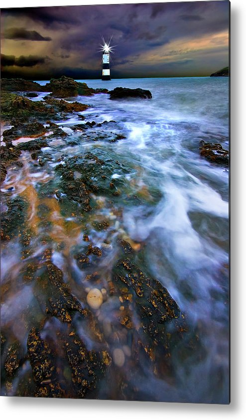 Uk Metal Print featuring the photograph Black Point Light by Meirion Matthias