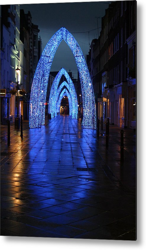 Jez C Self Metal Print featuring the photograph Blue Arch by Jez C Self