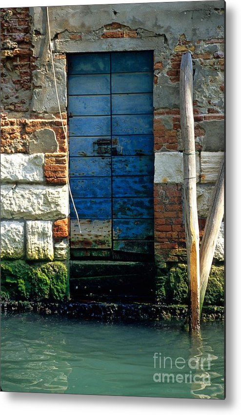 Venice Metal Print featuring the photograph Blue Door In Venice by Michael Henderson