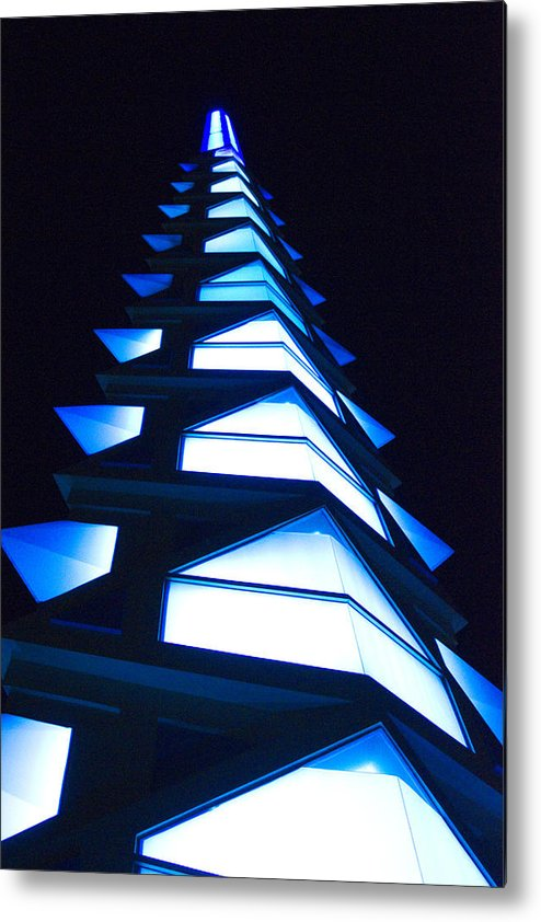 Blue Metal Print featuring the photograph Blue Spire by Richard Henne