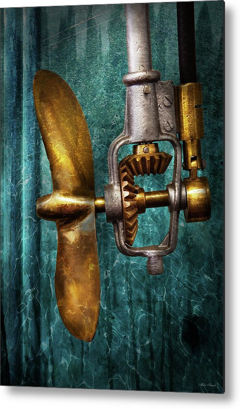 Hdr Metal Print featuring the photograph Boat - Propulsion by Mike Savad