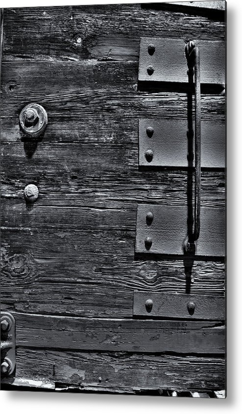 Wood Metal Print featuring the photograph Bolted Wood by Scott Wyatt