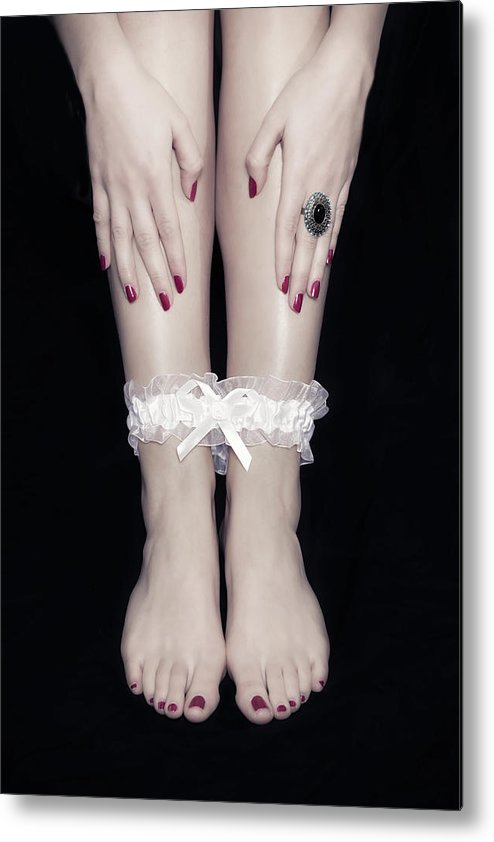 Female Metal Print featuring the photograph Bonded Legs by Joana Kruse