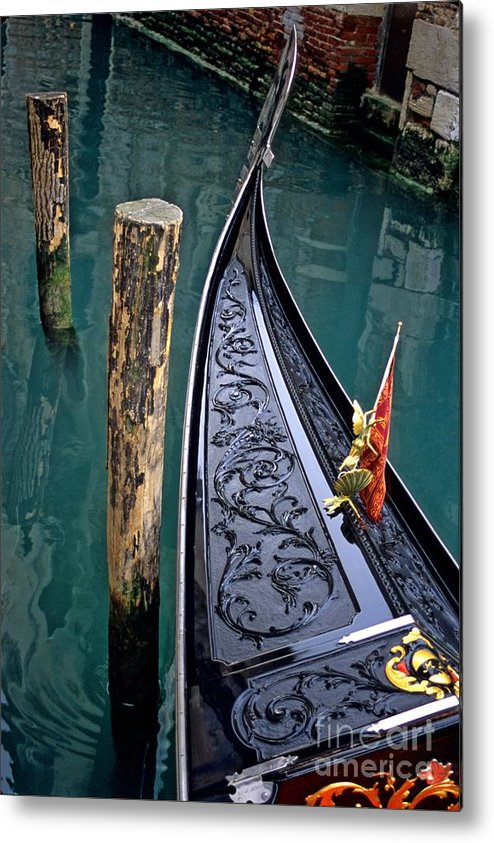 Italy Metal Print featuring the photograph Bow Of Gondola In Venice by Michael Henderson