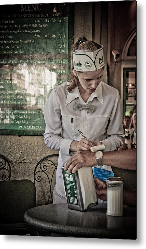 Cafe Metal Print featuring the photograph Breakfast At Cafe Du Monde by Daniel Ray