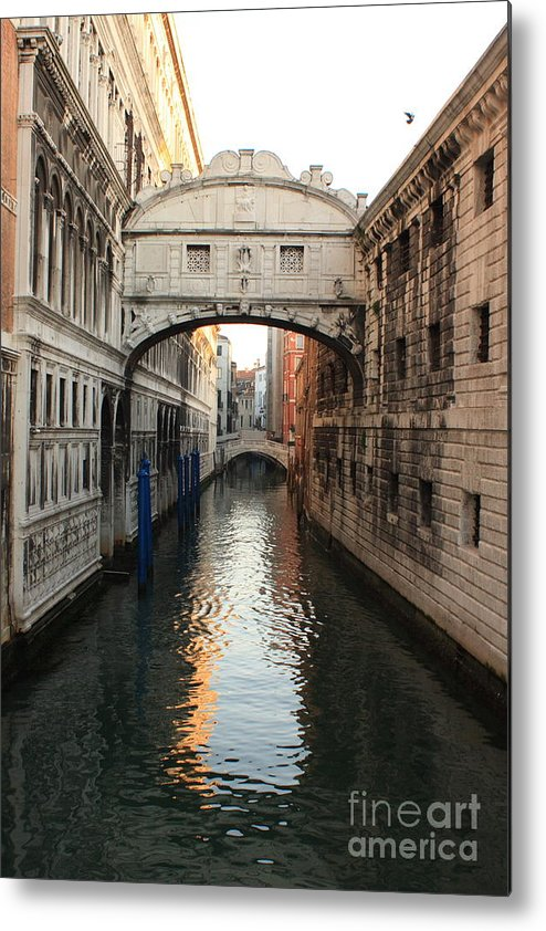 Venice Metal Print featuring the photograph Bridge Of Sighs In Venice In Morning Light by Michael Henderson