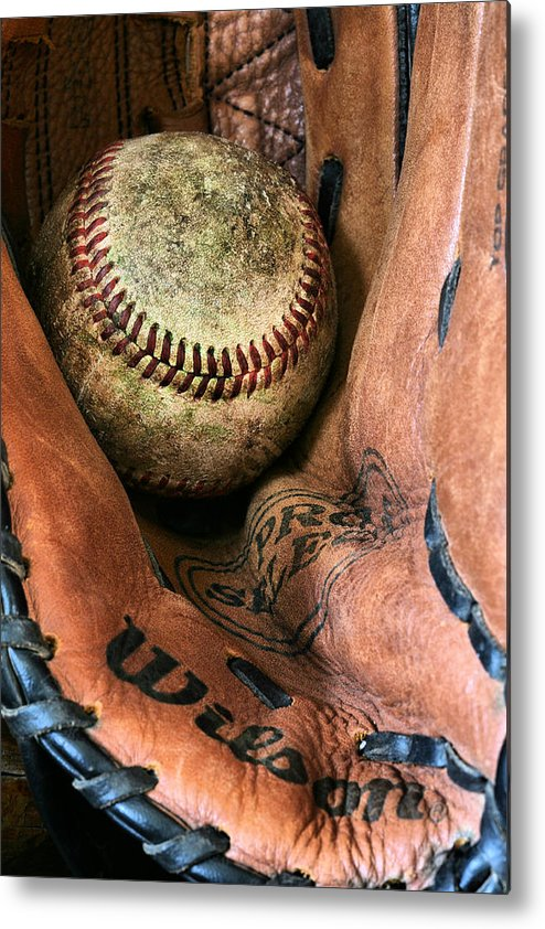 Baseball Metal Print featuring the photograph Broken In by JC Findley