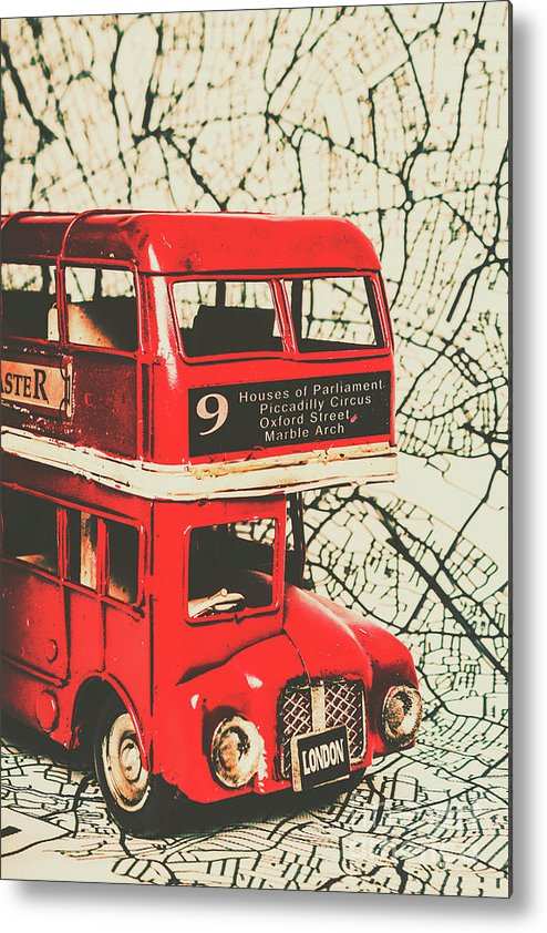 Britain Metal Print featuring the photograph Bus Line Art by Jorgo Photography - Wall Art Gallery