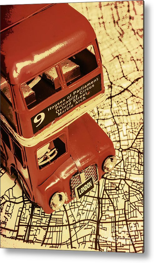 City Metal Print featuring the photograph Bussing Britain by Jorgo Photography - Wall Art Gallery