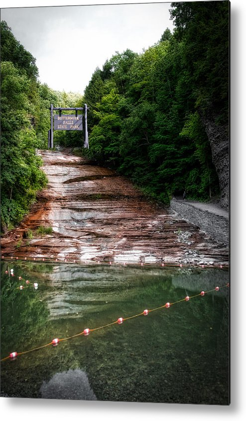 State Park Metal Print featuring the photograph Buttermilk Falls State Park New York 02 by Thomas Woolworth