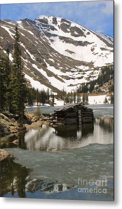 Nature Metal Print featuring the photograph Cabin At Chinns Lake by Tonya Hance