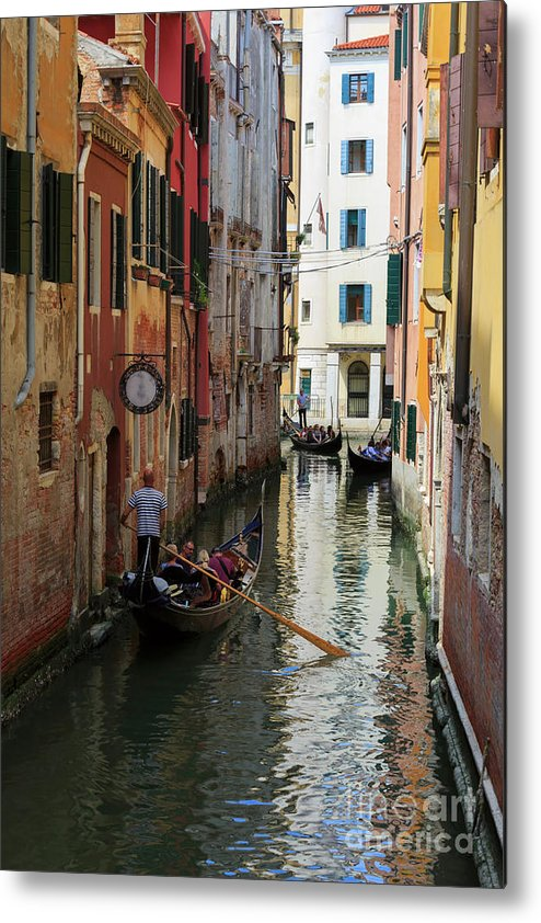 Canals Metal Print featuring the photograph Canals Of Venice Italy by Louise Heusinkveld