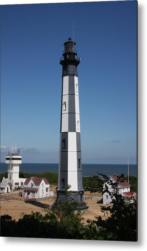 Lighthouse Metal Print featuring the photograph Cape Henry Lighthouse by Shari Bailey