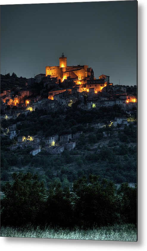 Italian Medieval Towns And Villages Metal Print featuring the photograph Capestrano Abruzzo Italy by Tom Doherty