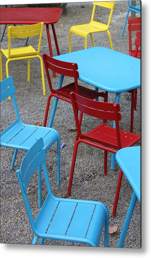 Chairs Metal Print featuring the photograph Chairs In Bryant Park by Lauri Novak