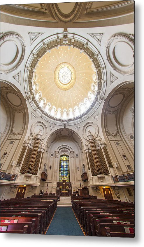 Annapolis Metal Print featuring the photograph Chapel Dome Interior by Richard Nowitz