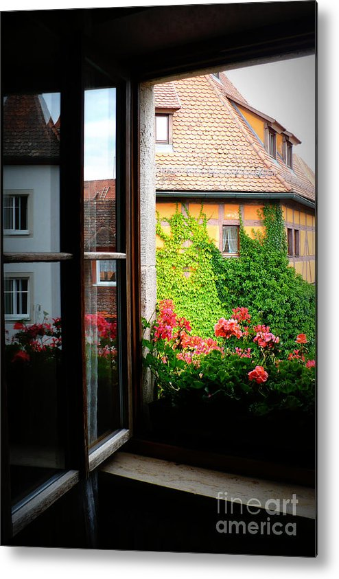 Europe Metal Print featuring the photograph Charming Rothenburg Window by Carol Groenen