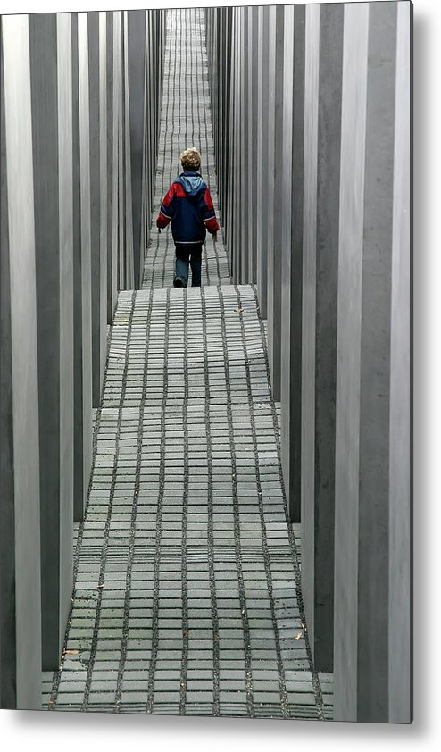 Berlin Metal Print featuring the photograph Child In Berlin by KG Thienemann