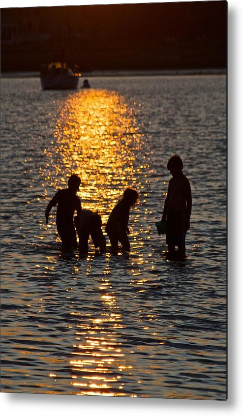 Children Metal Print featuring the photograph Children At Play by Gene Sizemore