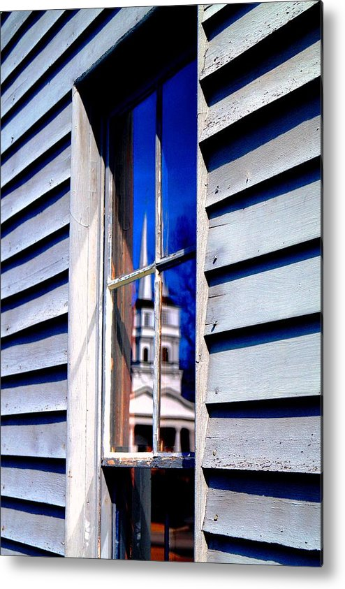 Metal Print featuring the photograph Church And State by Daniel Thompson