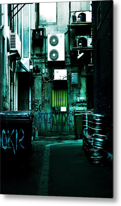 Air Conditioner Metal Print featuring the photograph Clandestine by Andrew Paranavitana