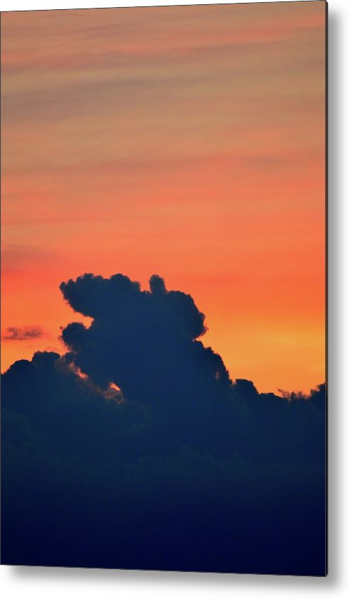 Abstract Metal Print featuring the photograph Cloud Shapes by Lyle Crump
