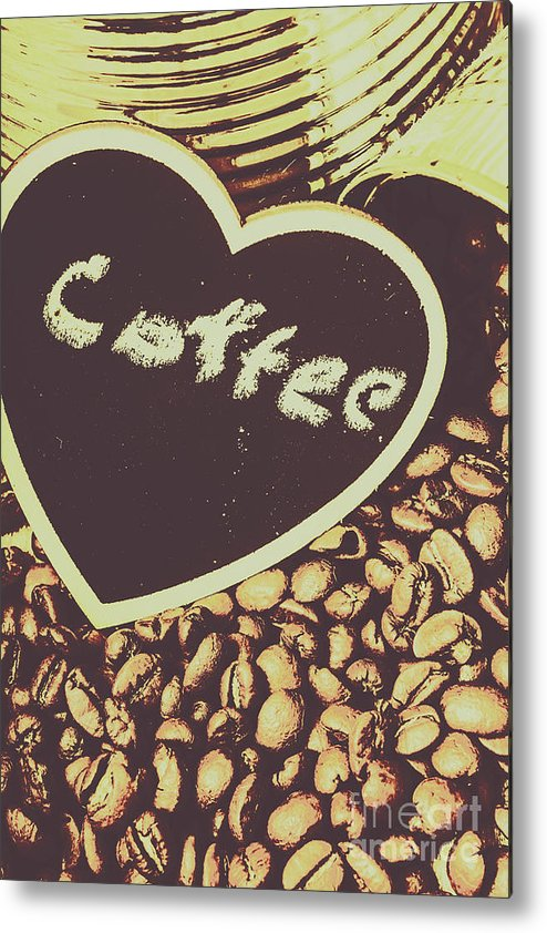 Bean Metal Print featuring the photograph Coffee Heart by Jorgo Photography - Wall Art Gallery