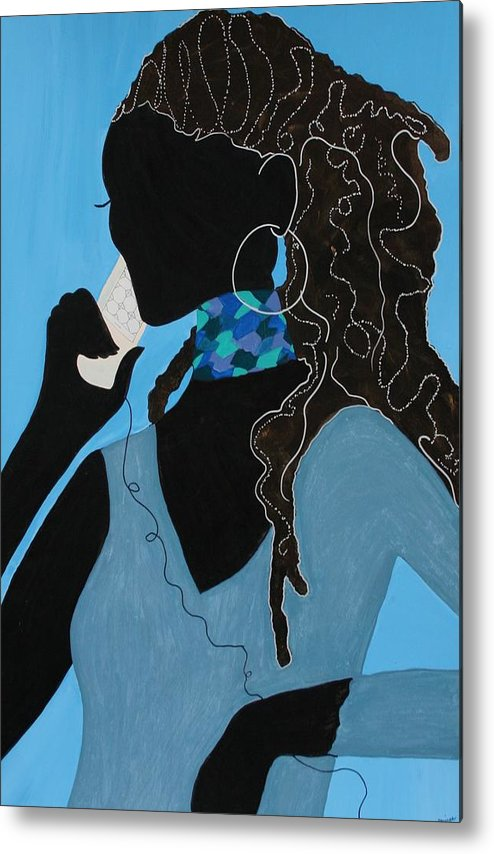 Acrylic Painting Metal Print featuring the painting Conversation by Shiree Gilmore