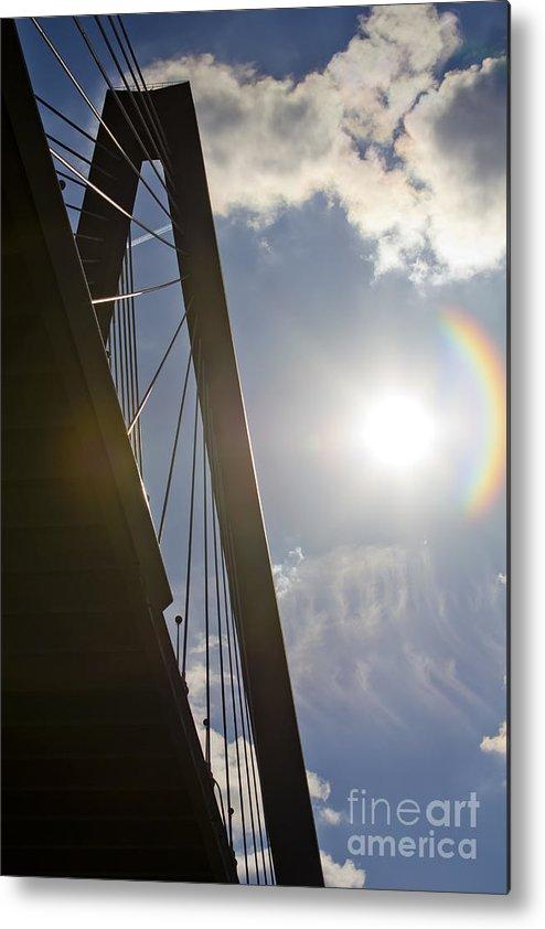 Cooper River Bridge Metal Print featuring the photograph Cooper River Bridge Lens Flair by Dustin K Ryan