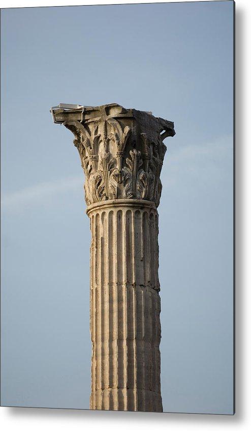 Photography Metal Print featuring the photograph Corinthian Columns At The Roman Forum by Joel Sartore