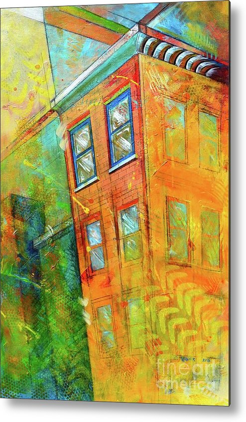 Building Metal Print featuring the painting Cornice by Christopher Triner