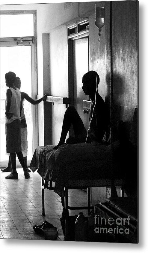Haiti Metal Print featuring the photograph Corridor Of Haitian Hospital by Angie Bechanan