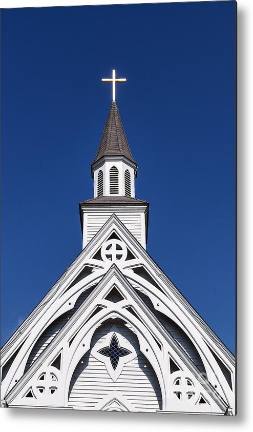 Connecticut Metal Print featuring the photograph Country Church by John Greim