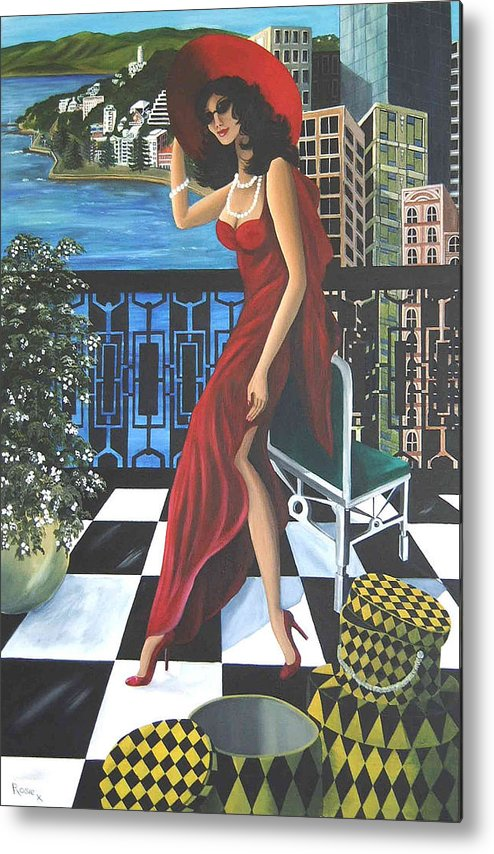 Art Deco Metal Print featuring the painting Courtenay by Rosie Harper