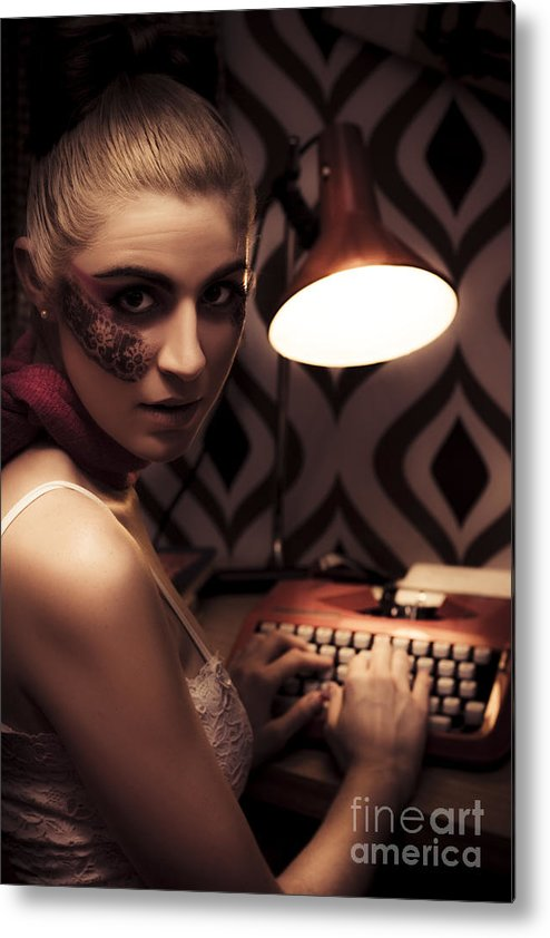 Blonde Metal Print featuring the photograph Creative Writing by Jorgo Photography - Wall Art Gallery