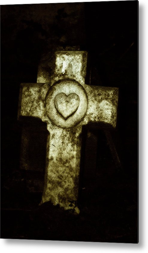 Cross Metal Print featuring the photograph Cross My Heart by Carl Perry