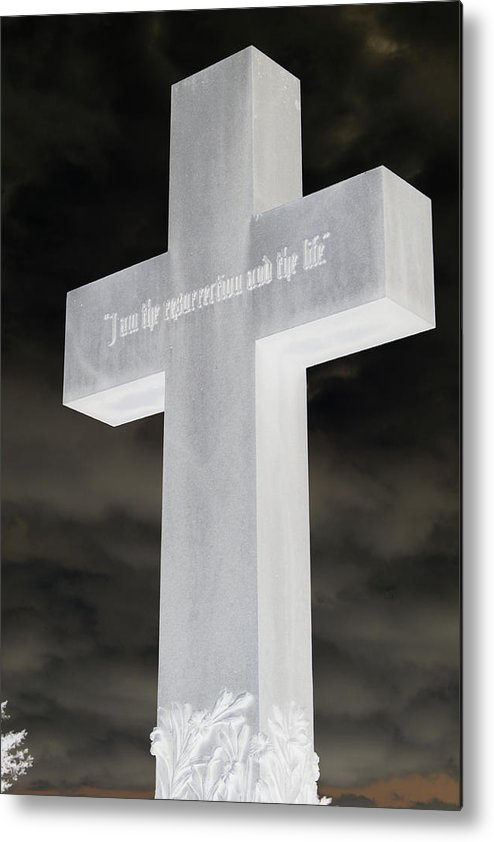 Statue Metal Print featuring the photograph Cross Your Statues by Erin Rosenblum